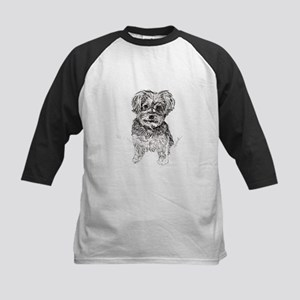 """""""Yorkshire Terrier"""" by M. Nic Kids Baseball Jersey"""