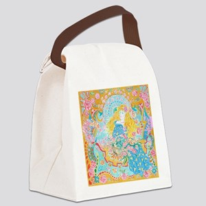 Art Nouveau Lady Canvas Lunch Bag
