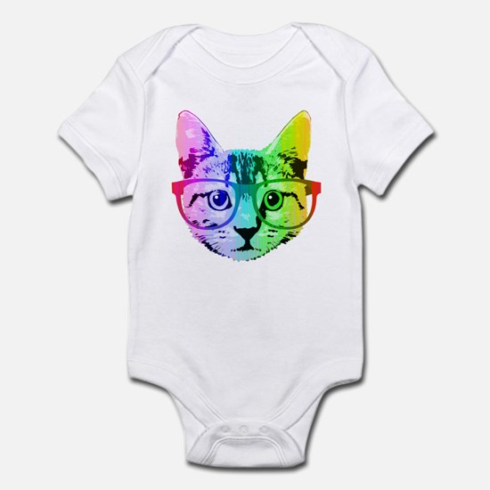 Funny Rainbow Cat Body Suit