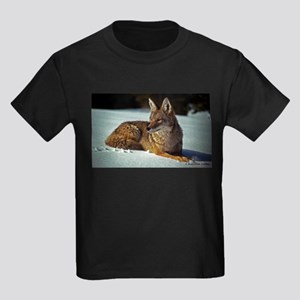 Coyote relaxing in the snow T-Shirt
