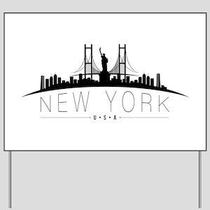 New York Yard Sign