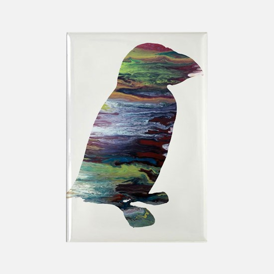 Abstract acrylic painting Rectangle Magnet