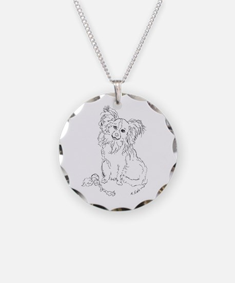"""Playful Papillion"" dog Necklace"