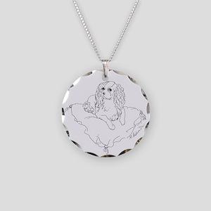 'Cavalier King Charles Spani Necklace Circle Charm