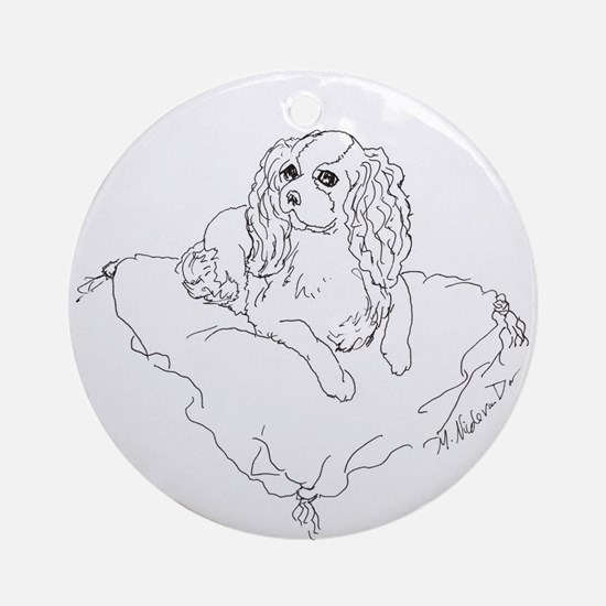 "'Cavalier King Charles Spaniel"" d Ornament (Round)"