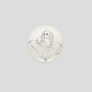 "'Cavalier King Charles Spaniel"" dog Mini Button"