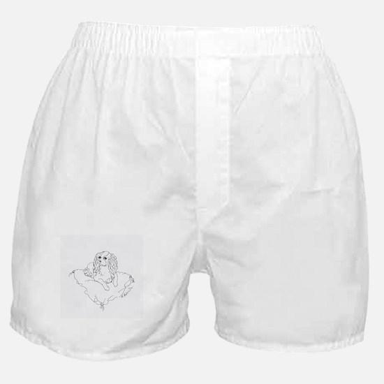 "'Cavalier King Charles Spaniel"" dog Boxer Shorts"