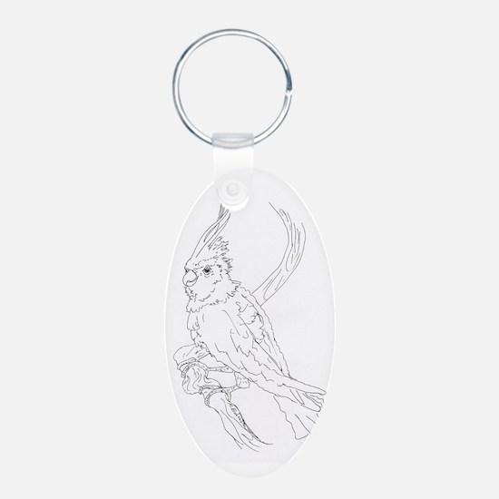 Cockatoo Parrot Cockatiel B Keychains