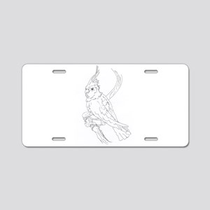 Cockatoo Parrot Cockatiel B Aluminum License Plate