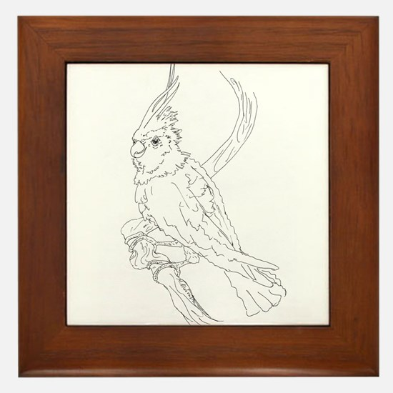 Cockatoo Parrot Cockatiel Bird Framed Tile