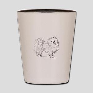 """Pomeranian"" dog Shot Glass"
