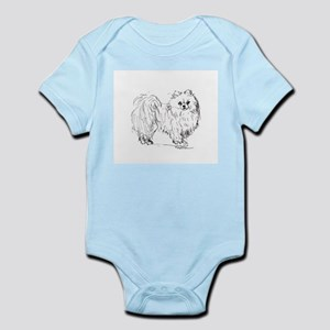 """Pomeranian"" dog Infant Bodysuit"