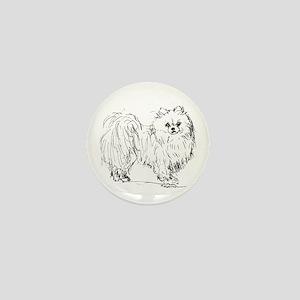 """Pomeranian"" dog Mini Button"