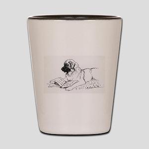 """Leonberger Dog Reading"" Shot Glass"