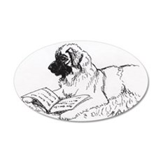 """""""Leonberger Dog Reading"""" Wall Decal"""