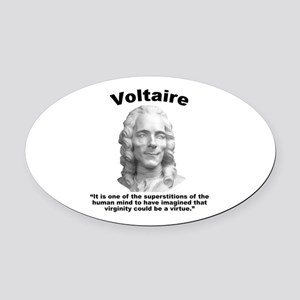 Voltaire Virginity Oval Car Magnet