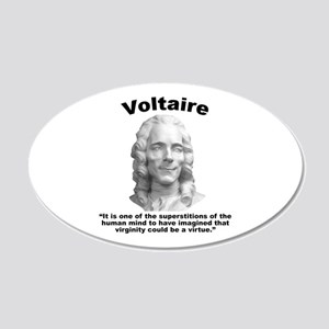 Voltaire Virginity 20x12 Oval Wall Decal