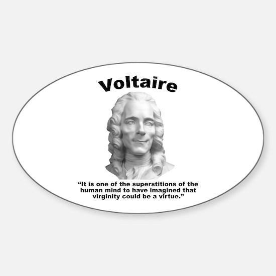 Voltaire Virginity Sticker (Oval)