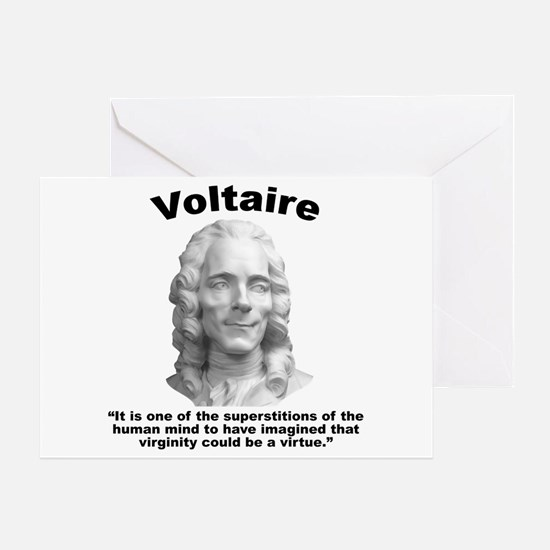 Voltaire Virginity Greeting Card