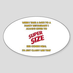 Super Size It! Oval Sticker