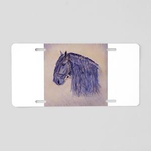 Friesian Horse Aluminum License Plate