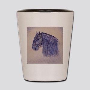 Friesian Horse Shot Glass