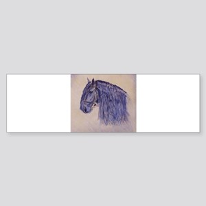Friesian Horse Sticker (Bumper)