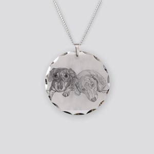 """""""Dachshunds"""" by M. Nicole va Necklace Circle Charm"""