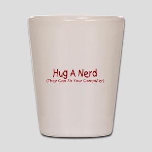 Hug A Nerd Shot Glass