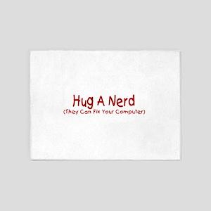 Hug A Nerd 5'x7'Area Rug