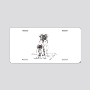 Leonberger Dog Family Aluminum License Plate