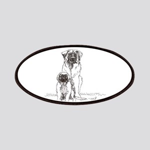 Leonberger Dog Family Patches