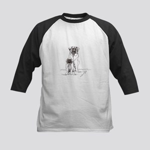 Leonberger Dog Family Kids Baseball Jersey