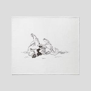 """Happy Feet"" Leonberger Dog Throw Blanket"