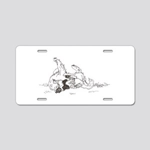 """Happy Feet"" Leonberger Dog Aluminum License Plate"