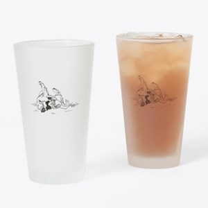 """Happy Feet"" Leonberger Dog Drinking Glass"