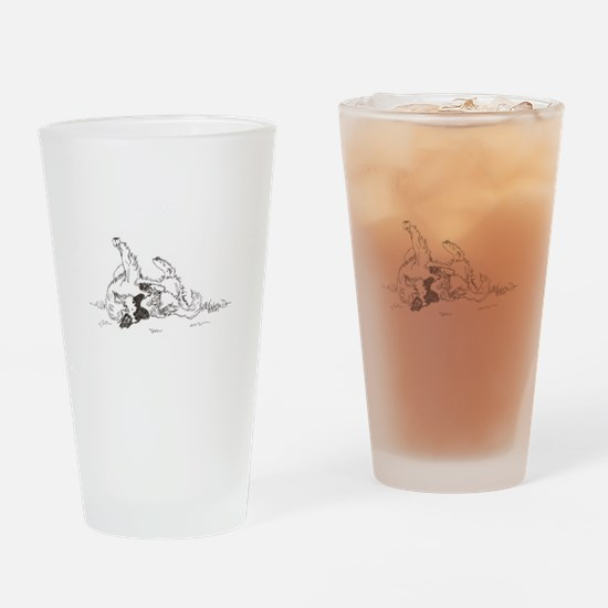 """Happy Feet"" Leonberger Dog Drinking Glass"