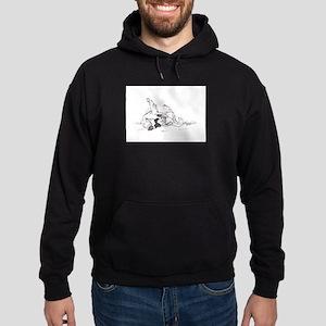 """""""Happy Feet"""" Leonberger Dog Hoodie (dark)"""