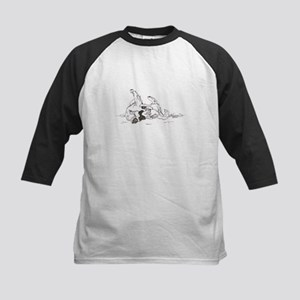"""Happy Feet"" Leonberger Dog Kids Baseball Jersey"