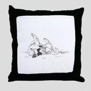 """Happy Feet"" Leonberger Dog Throw Pillow"