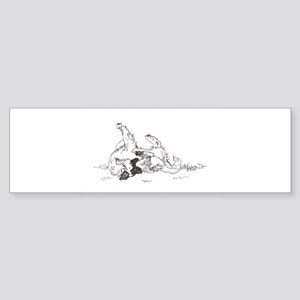 """Happy Feet"" Leonberger Dog Sticker (Bumper)"
