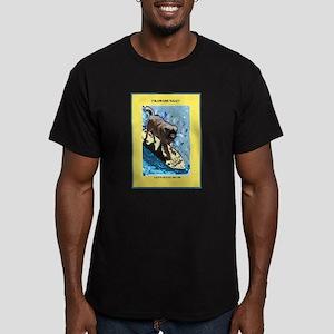 """""""Surfing Dog"""" Men's Fitted T-Shirt (dark)"""