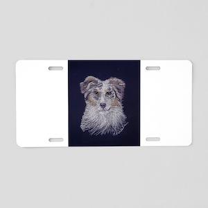 """""""Australian Shepherd: dog Aluminum License Plate"""