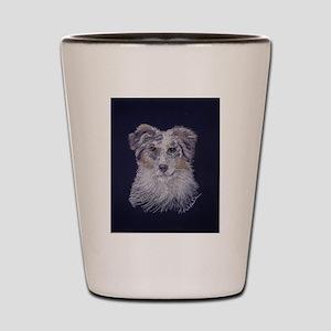 """Australian Shepherd: dog Shot Glass"