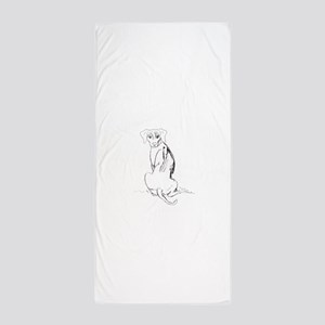 """Rhodesian Ridgeback"" Dog Beach Towel"