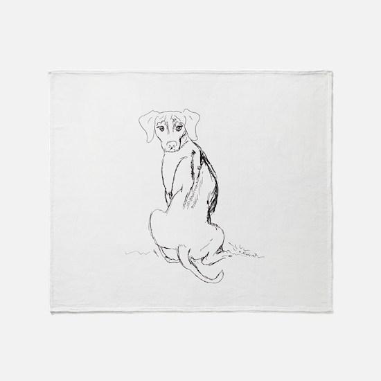 """""""Rhodesian Ridgeback"""" Dog Throw Blanket"""