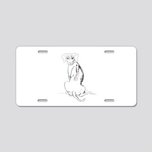 """Rhodesian Ridgeback"" Dog Aluminum License Plate"