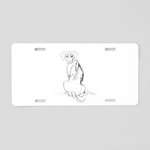 """Rhodesian Ridgeback"" Dog Aluminum License Plate"