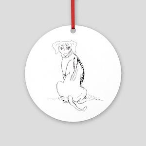 """Rhodesian Ridgeback"" Dog Ornament (Round)"