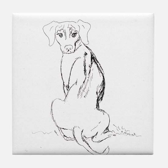 """""""Rhodesian Ridgeback"""" Dog Tile Coaster"""